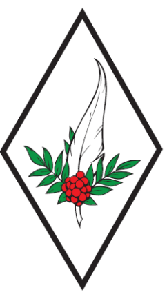 Quill and rowan berry logo diamond with white background for Rowan Worth